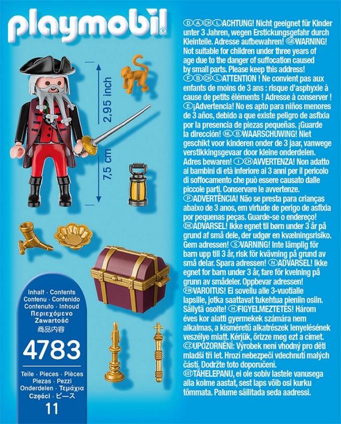 playmobil - pirat mit schatztruhe