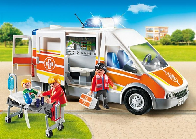 playmobil krankenwagen mit licht und sound. Black Bedroom Furniture Sets. Home Design Ideas