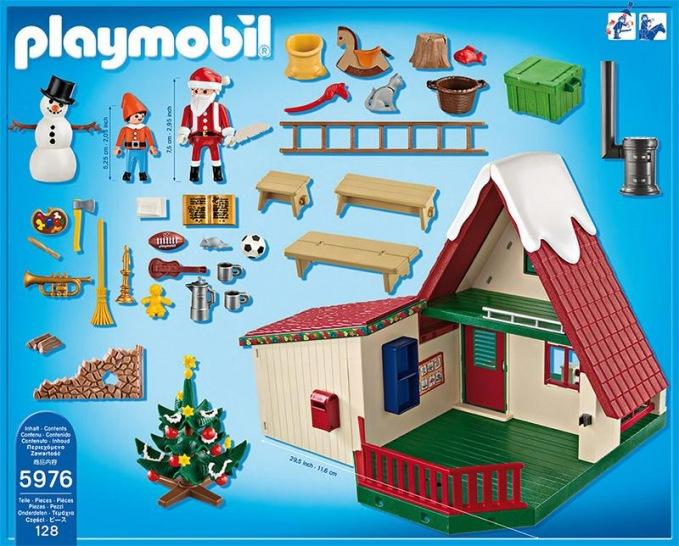 playmobil zuhause beim weihnachtsmann. Black Bedroom Furniture Sets. Home Design Ideas