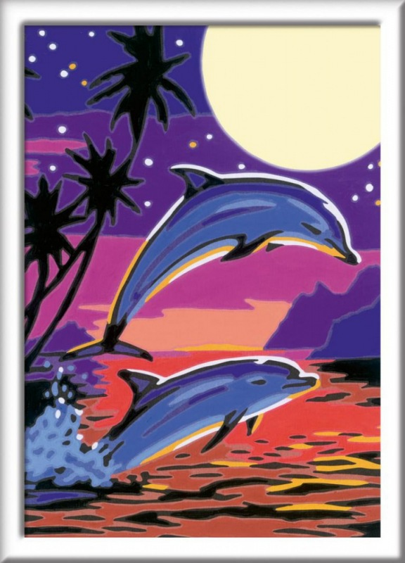 ravensburger  malen nach zahlen delfine