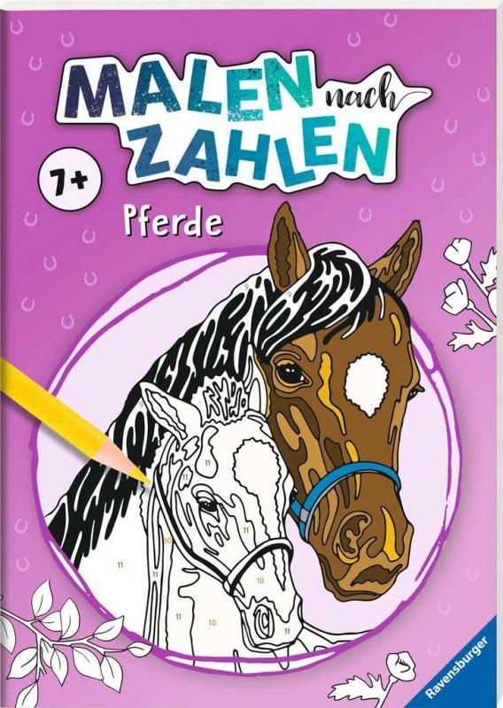 ravensburger  malen nach zahlen pferde